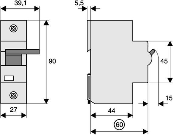 габаритные размеры независимый расцепитель 110-415 в (для plht) eaton z-bhasa/230 248445