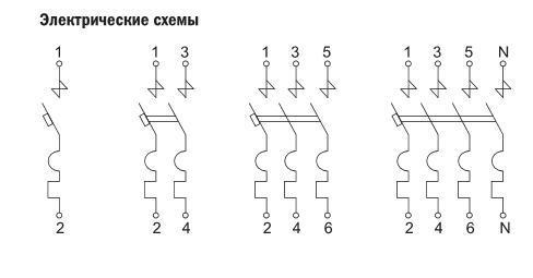 Схема автоматический выключатель ва 47-100 1р 25а 10 ка d іек mva40-1-025-d