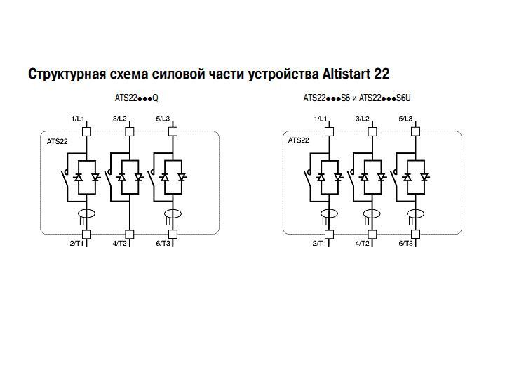 Схема устройство плавного пуска schneider electric altistart 22 17a ats22d17s6