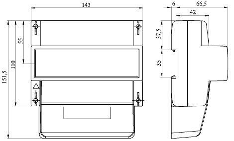 Габаритные размеры электросчетчика Энергомера СЕ301