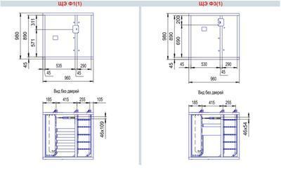 габаритные размеры щита этажного на 1 квартиру