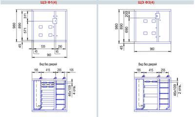 габаритные размеры щита этажного на 4 квартиры