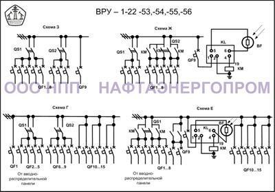 Схема ВРУ 1-22-53,-54,-55,-56 - 2