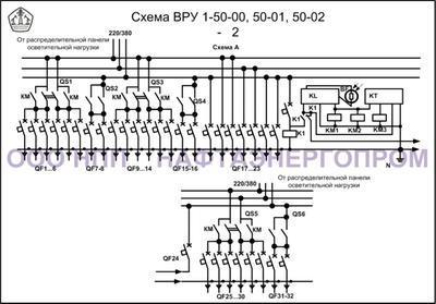 Схема ВРУ 1-50-00, 50-01, 50-02-2