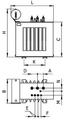 Общий вид трансформаторов типа ТМ 25 63