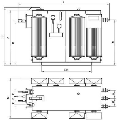 Габаритные размеры трансформаторов ТМЗ 630 2500