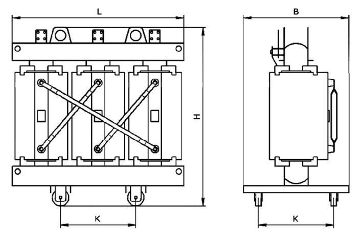 габаритные размеры трансформатора ТС