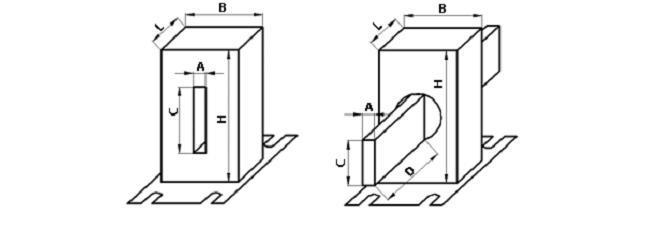 габаритные размеры трансформатора Т-0.66