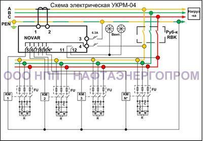 схема конденсаторной установки УКРМ