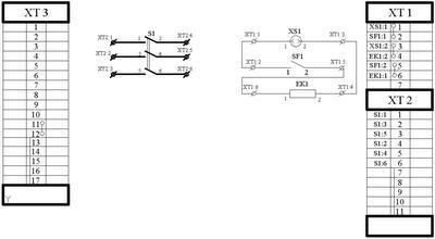 Схема электрическая ящика ЯЗВ-30